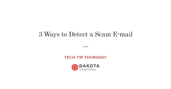 Ways to detect a phishing email