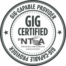 Gig-capable certified Internet provider