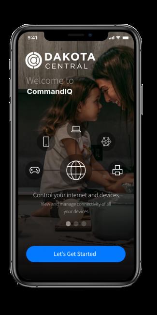 CommandIQ app Landing page